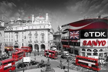 Plakat Londyn - piccadilly circus