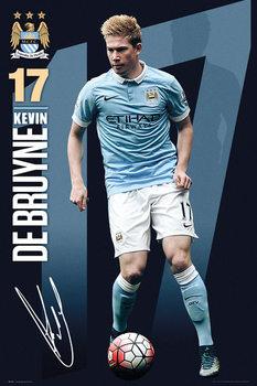 Plakat Manchester City FC - De Bruyne 15/16