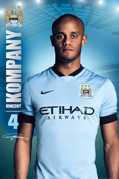 Plakat Manchester City FC - Kompany 14/15