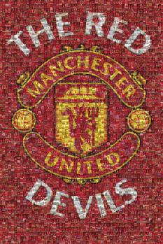 Plakat Manchester United - mosaic