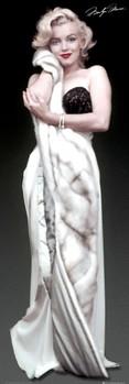 Plakat MARILYN MONROE - fur