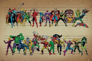 Plakat Marvel Comics - Line Up