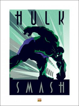 Reprodukcja Marvel Deco - Hulk
