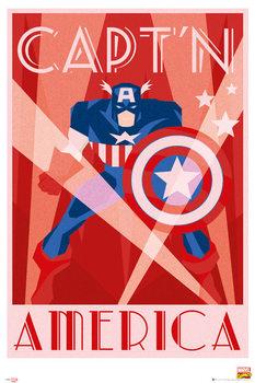 Plakat Marvel - Retro Captain America