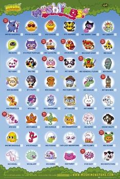 Plakat Moshi monsters - moshlings