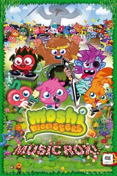 Plakat Moshi monsters - music rox