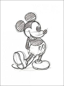 Reprodukcja Myszka Miki (Mickey Mouse) - Sketched Single