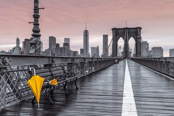 Plakat Nowy Jork - Brooklyn bridge, Assaf Frank