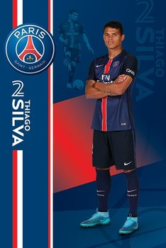 Plakat Paris Saint-Germain FC - Thiago Silva