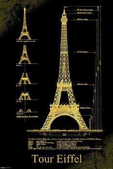 Plakat Paryż - Wieża Eiffla