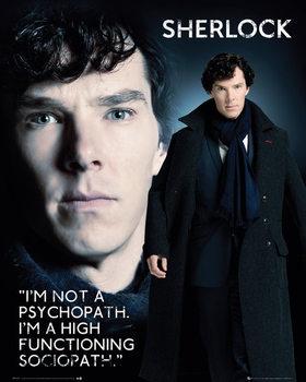 Plakat Sherlock - Sociopath