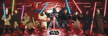 Plakat STAR WARS - lightsabers