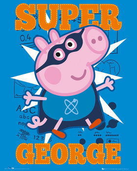 Plakat Świnka Peppa - Super George