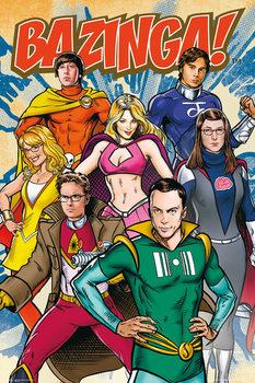 Plakat TEORIA WIELKIEGO PODRYWU - THE BIG BANG THEORY - Comic