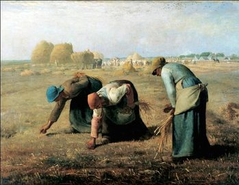 Reprodukcja The Gleaners, 1857