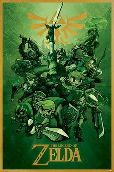 Plakat The Legend Of Zelda - Link