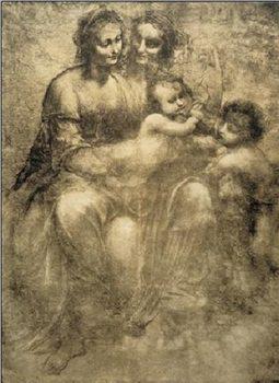 Reprodukcja The Virgin and Child with St Anne and St John the Baptist - Burlington House Cartoon