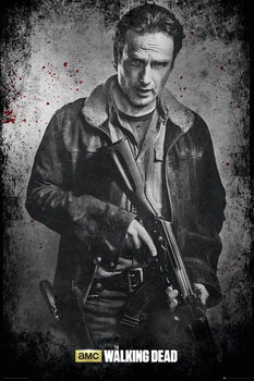 Plakat The Walking Dead - Rick b&w