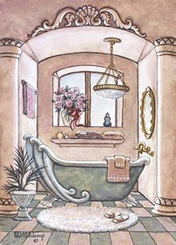 Reprodukcja Vintage Bathtub ll