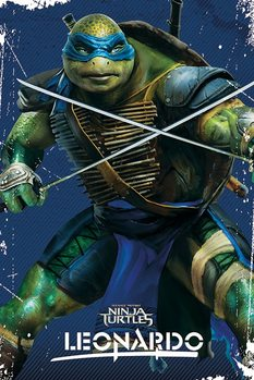 Plakat Wojownicze zólwie ninja - Leonardo