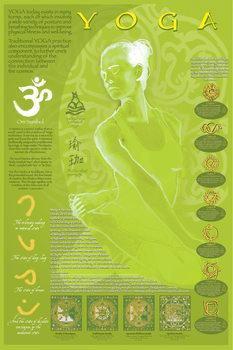 Plakat Yoga and its symbols