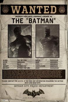 BATMAN ORIGINS - wanted pósters | láminas | fotos
