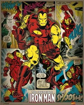 MARVEL COMICS - iron man retro pósters   láminas   fotos