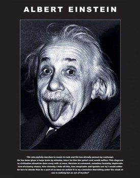 Albert Einstein - tongue Poster, Art Print