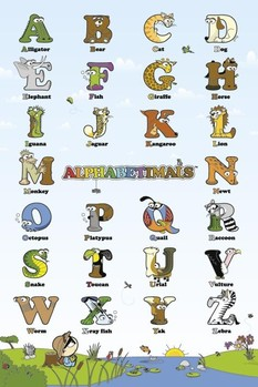 ALPHABETIMALS posters | art prints