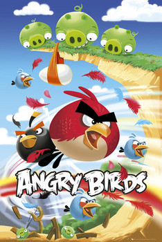 Angry birds - attack  Poster, Art Print