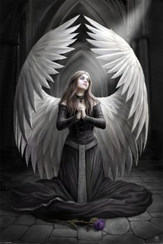 ANNE STOKES - prayer for the fallen Poster, Art Print