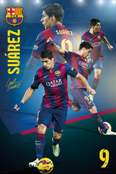 Barcelona - Suarez Collage 14/15 Poster, Art Print