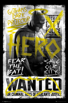 Batman v Superman: Dawn of Justice - Batman Wanted Poster, Art Print