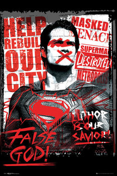Batman v Superman: Dawn of Justice - Superman False God Poster, Art Print