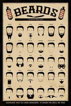 Beards - The Art of Manliness Poster, Art Print