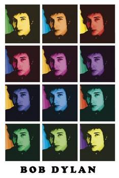 Bob Dylan – colours Poster, Art Print