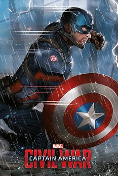 Captain America: Civil War - Captain America Poster, Art Print