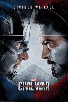 Captain America: Civil War - Face Off Poster, Art Print