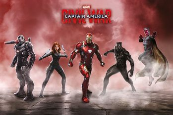 Captain America: Civil War - Team Iron Man Poster, Art Print