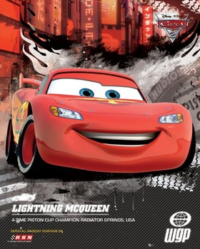 CARS 2 - lightning world  posters | art prints