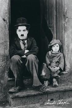 Charlie Chaplin - doorway Poster, Art Print