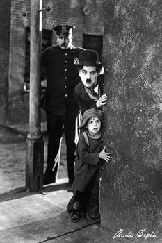 Charlie Chaplin - the kid Poster, Art Print