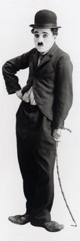 Charlie Chaplin - tramp Poster, Art Print