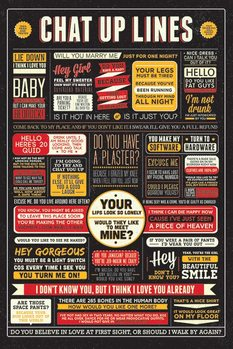 Chat Up Lines Poster, Art Print