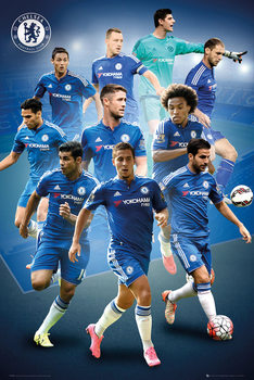 Chelsea FC - Players 15/16 Poster, Art Print