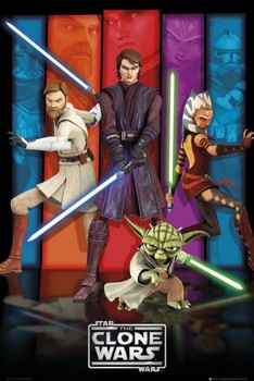 CLONE WARS - colours posters | art prints