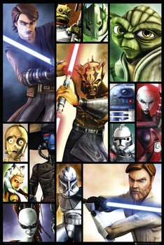 CLONE WARS - compilation 2 posters | art prints