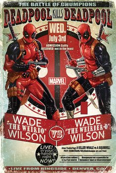 Deadpool - Wade vs Wade Poster, Art Print