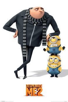 DESPICABLE ME 2 - gru and minions Poster, Art Print