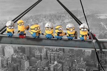 Despicable Me - Minions Lunch on a Skyscraper Poster, Art Print